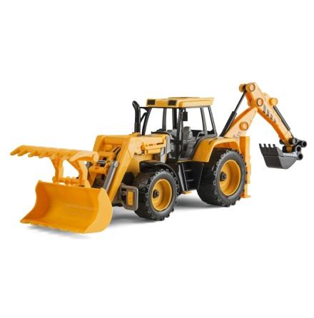 Speedcar Traktor med frontgrab och grävlastare