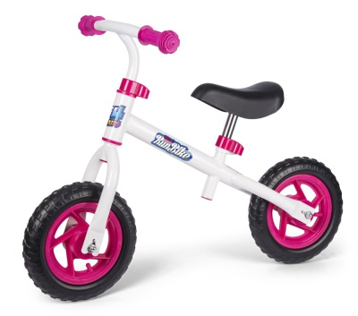 4-Kids Mini gå/spring cykel, Vit/Rosa