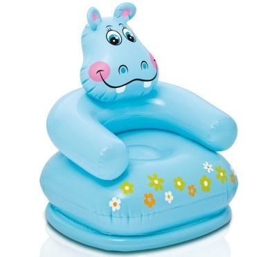 Intex Happy Animal Uppblåsbar Barnstol, Flodhäst