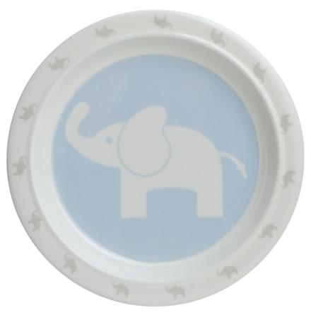 Rätt Start Flat Tallrik Elefant, Blå
