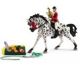 Schleich Hästhoppning med Knabstruppersto
