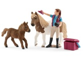 Schleich Hästskötare med shetlandsponny