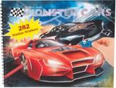 Monster Cars Målarbok med klistermärken