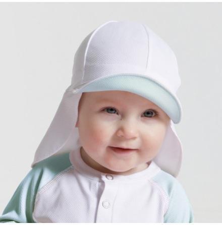 Sunseal Flap Hat UPF 50+, Vit/Ocean