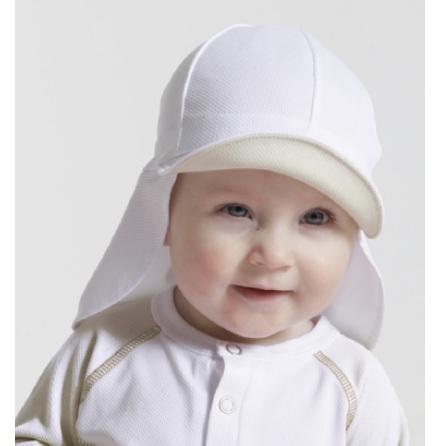 Sunseal Flap Hat UPF 50+, Vit/Vit