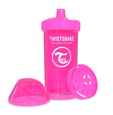 Twistshake Sportflaska Kid Cup 360ml 12m+, Rosa