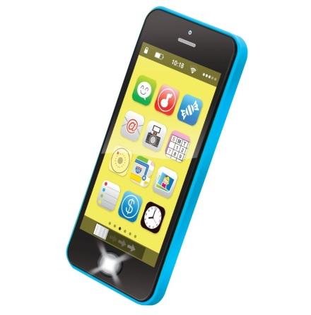 Bieco Smartphone med ljus, musik och ljud, Blå