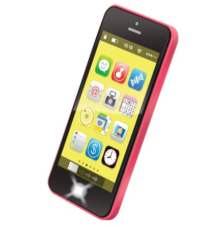 Bieco Smartphone med ljus, musik och ljud, Röd