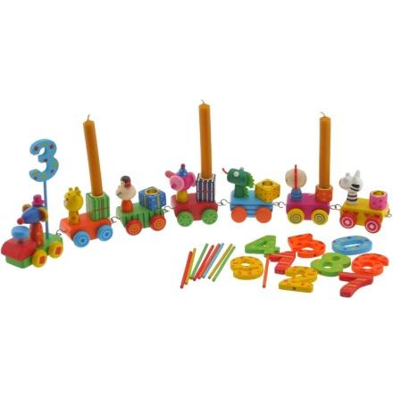 Bieco Födelsedagståg med siffror o ljushållare