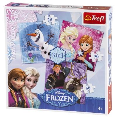 Frozen Pussel 3i1 20, 36, 50 bitar