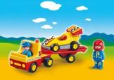Playmobil 1.2.3 Bärgningsbil med racerbil