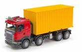 Emek Scania containerbil, Röd