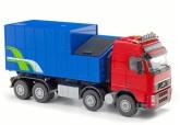 Emek Volvo med avfallscontainer, Röd