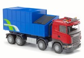 Emek Scania m Avfalls container, Röd