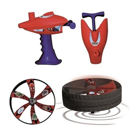 Spintop Spider-Man - Flygande hjul + dragare
