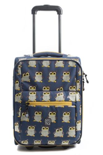 Pick & Pack Resväska Uggla, Denim Blue