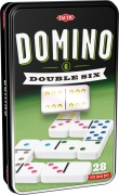 Domino Double 6 i plåtask