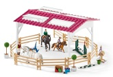 Schleich Ridskola med ryttare och hästar