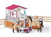 Schleich Hästbox med arabhästar och hästskötare
