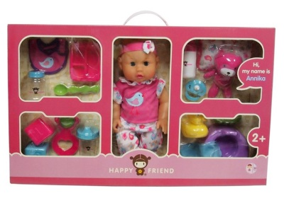 Happy Friend Docka Annika Baby Care Combo