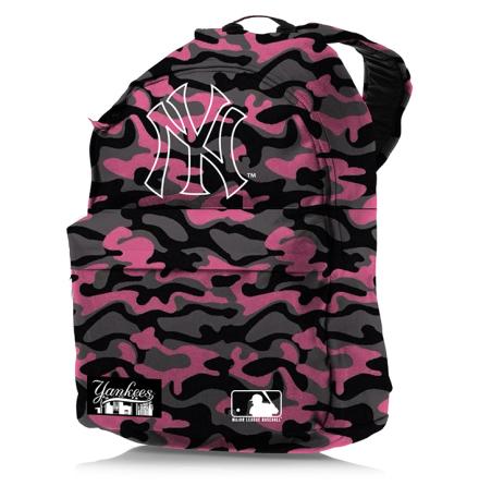 New York Yankees Ryggsäck, Rosa/Svart Camouflage