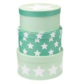 Pappboxar Runda 3 st Star Mint
