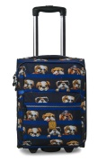 Pick & Pack Resväska Hundar, Blue
