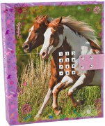 Horses Dreams Dagbok med kod & musik, Rosa