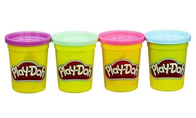 Play-Doh modellera, 4-pack (lila, grön, rosa, blå)