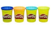 Play-Doh modellera, 4-pack (mörkblå, orange, turkos, limegrön)