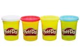 Play-Doh modellera, 4-pack (vit, röd, gul, blå)