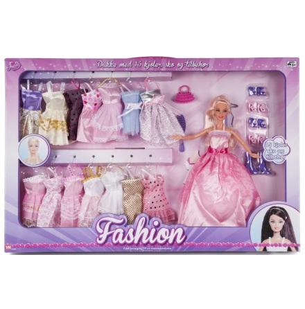 Judith Fashion med 15 klänningar och tillbehör, Ljusrosa