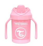 Twistshake Mini Cup 4+ mån 230ml, Babyrosa