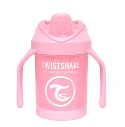Twistshake Mini Cup 4+ mån 230ml, Babyrosa