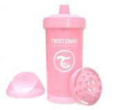 Twistshake Sportflaska Kid Cup 360ml 12m+, Babyrosa