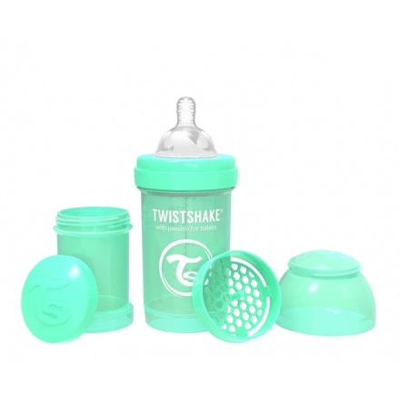 Twistshake Nappflaska Anti-Kolik-180ml, Mintgrön