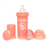 Twistshake Nappflaska Anti-Kolik-260ml, Pastell Peach