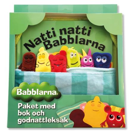 Babblarna Godnattpaket, bok + leksak