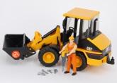 Bruder CAT Kompaktgrävare inkl. byggarbetare