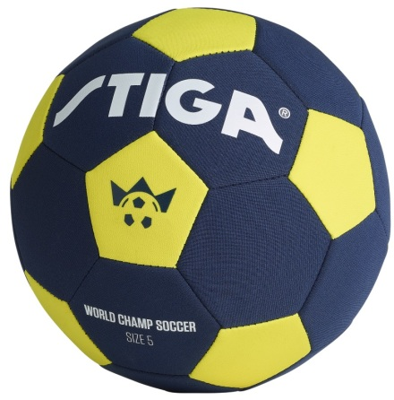 Stiga World Champ Soccer Fotboll Storlek 5, Blå/Gul