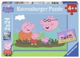 Ravensburger Greta Gris - Happy Family Life pussel, 2x24