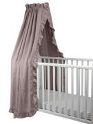 NG Baby Sänghimmel Volang, Dusty Pink Mood Ruffles