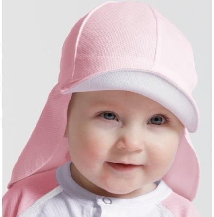 Sunseal Flap Hat UPF 50+, Pastellrosa/Vit