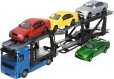 Biltransport med fyra bilar, Blå