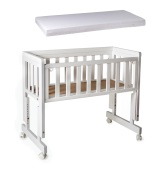 Troll Bedside Crib Two + Madrass Vit