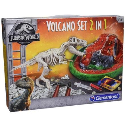Jurassic World T-Rex och Vulkan 2-i-1 Set