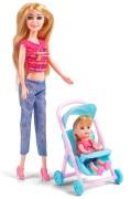 Judith Docka med barn, barnvagn och tillbehör