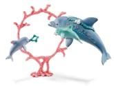 Schleich Delfinmamma med bebisar