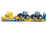 Siku Lastbil med New Holland Traktor