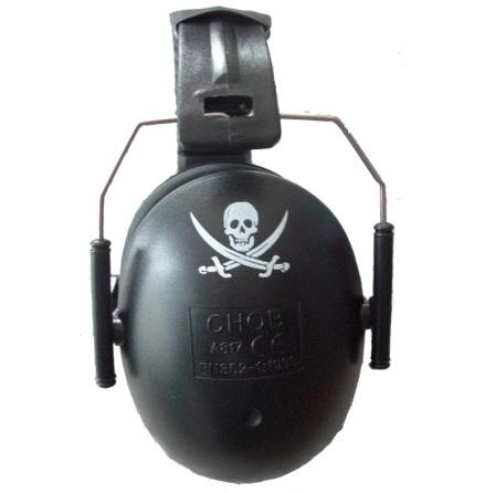 A-Safety Hörselskydd, Svart Pirat